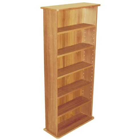 Techstyle 222 CD or 104 DVD Media Storage Shelf Unit - Beech