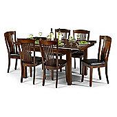 Mahogany Finish Extending Dining Table (120cm + 40cm x 90cm)