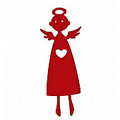 Heart angel red