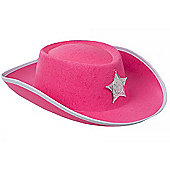 Fancy Dress Cowgirl's Hat - Red