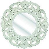 D & J Simons Roccoco Round Mirror - White