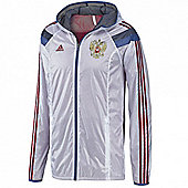 2014-15 Russia Adidas Anthem Jacket (White) - White