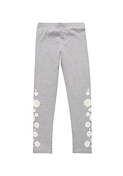 F&F Daisy Print Leggings with As New Technology - Multi