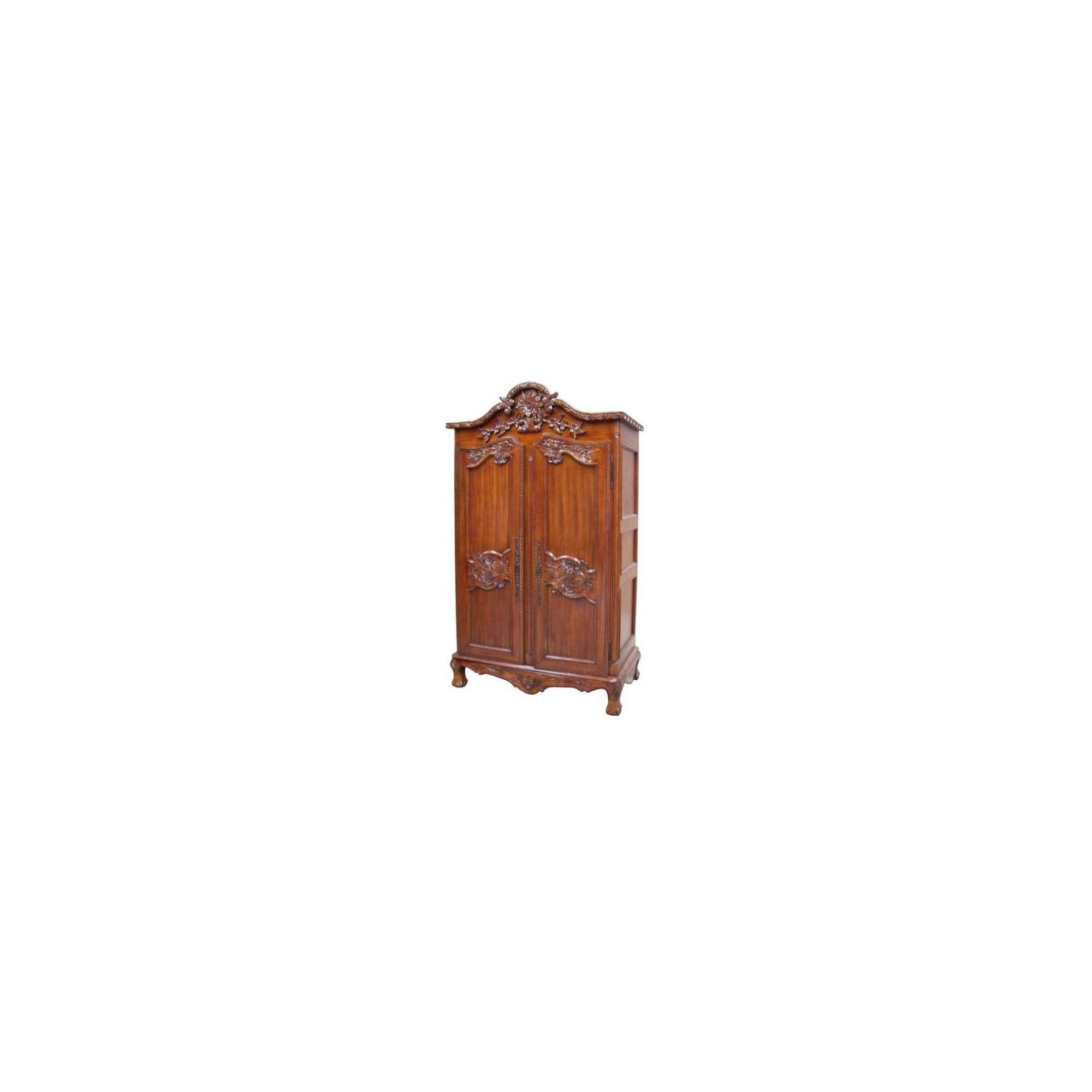Lock stock and barrel Mahogany Colibry Armoire in Mahogany - Wax at Tesco Direct