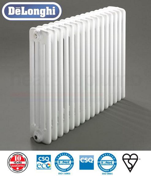 Delonghi 4 Column Radiators - 750mm High x 1406mm Wide - 30 Sections