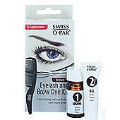 Swiss O.Par Long Lasting Eyelash And Brow Dye Kit-Brown