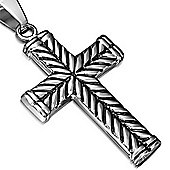 Two Tone Stainless Steel Cross Design Pendant
