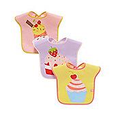 B Baby's Cupcake Bib - 3 Pack