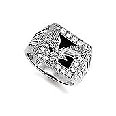 Sterling Silver Cubic Zirconia set eagle Ring Size