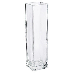 Tesco Rectangle Vase Clear