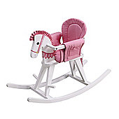 Teamson Kids Safari White Rocking Horse - Pink