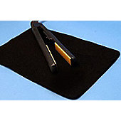 Heat Resistant Straightening Iron Protection Mat Black