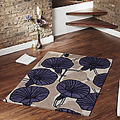 Ultimate Rug Co Floral Art Incas Purple Rug - 160 cm x 230 cm (5 ft 3 in x 7 ft 6.5 in)