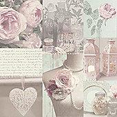 Charlotte Floral Wallpaper - Blush - 665200