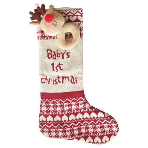 Bizzi Growin Christmas Stocking With Reindeer Rattle