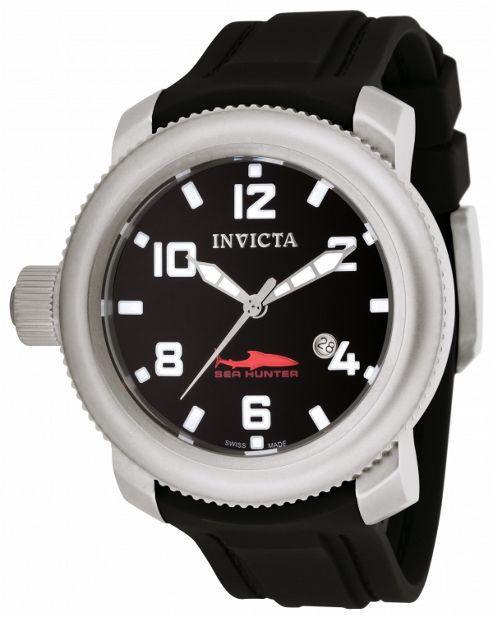 Invicta Sea Hunter Mens Rubber Date Watch 1544