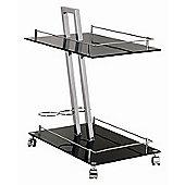Urbane Designs Uranus Trolley / End Table in Black