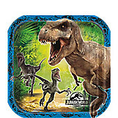 Jurassic World Square Plates - 17cm Paper Party Plates