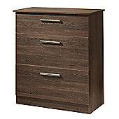 Welcome Furniture Contrast Deep Chest of 3 Drawers