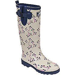 Trespass Ladies Elena Printed Wellington Cream 4