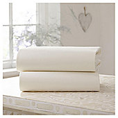 Clair de Lune Fitted Cotton Interlock Sheets - Cot Bed (Cream)