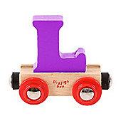 Bigjigs Rail Rail Name Letter L (Purple)