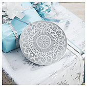 TESCO 6 PACK TAGS  SILVER DOILY