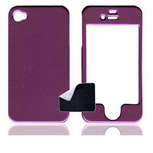 Apple iPhone 4, 4S S - U-bop ShadowSHELL Rubberised Case - Charcoal Purple