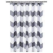 Tesco Chevron Shower Curtain