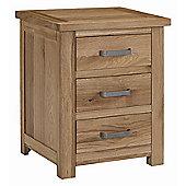 Kelburn Furniture Lyon 3 Drawer Bedside Table