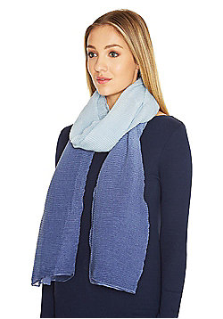 F&F Pleated Ombr© Sparkle Scarf - Blue