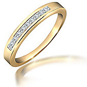 18 Carat Yellow Gold 25pts Diamond Ring