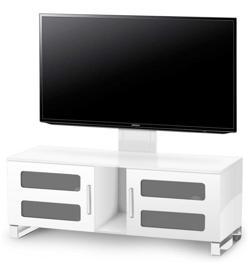 High Gloss White Cantilever Stand For Up To 60 inch TVs
