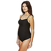 F&F Ruched Side Maternity Swimsuit - Black