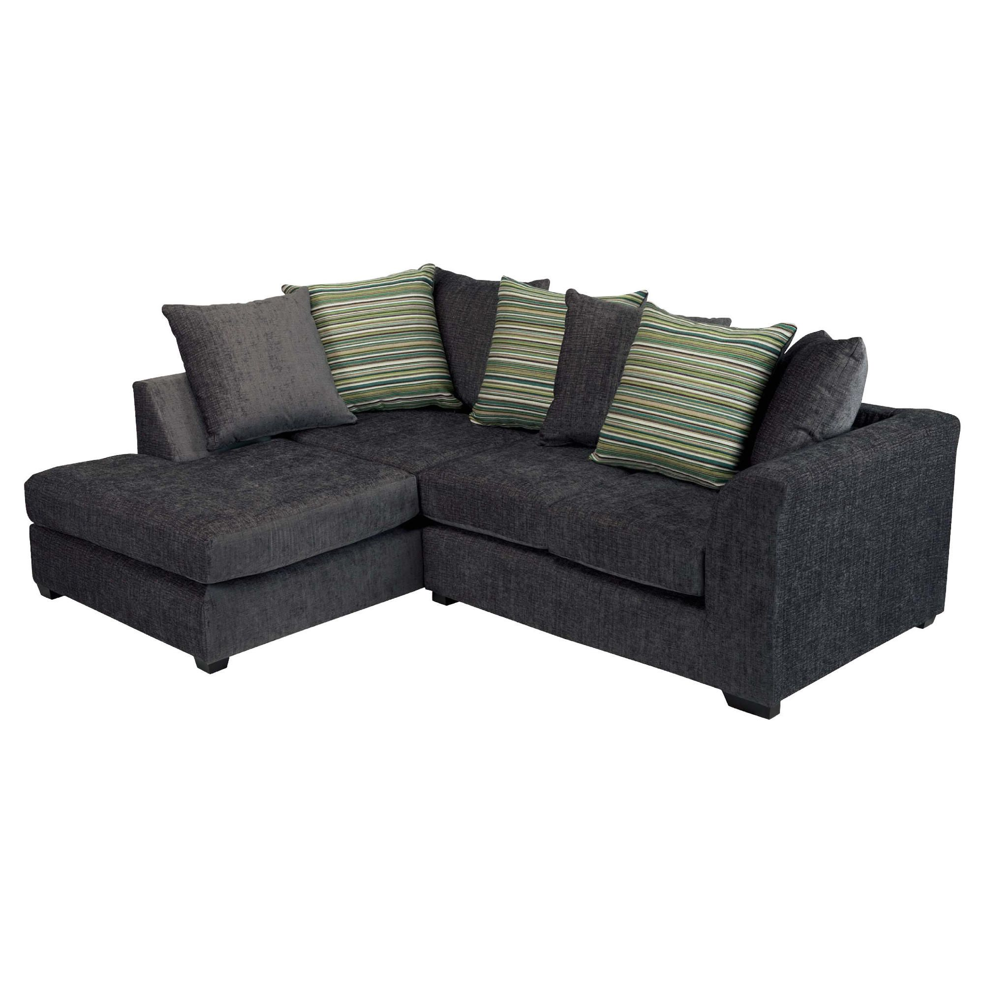 Toronto Fabric Corner Sofa Left Hand Facing, Charcoal at Tescos Direct