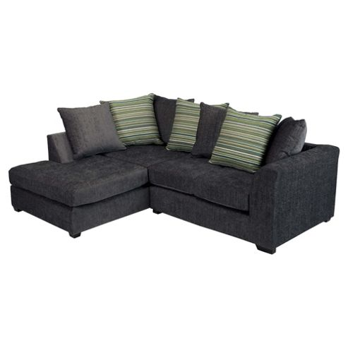 Toronto Fabric Corner Sofa Left Hand Facing, Charcoal