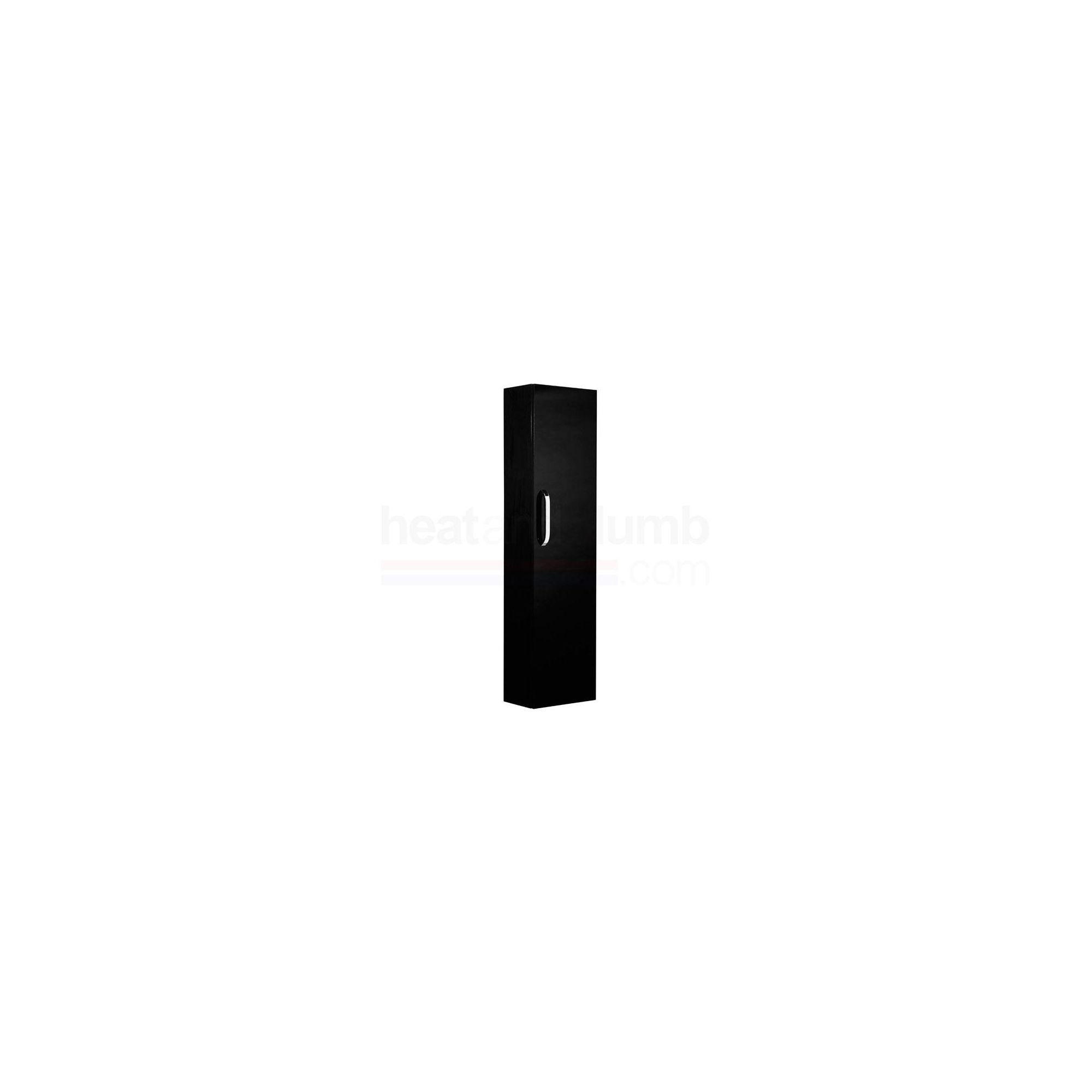Tavistock Arc Black Wall Mounted Column Storage Unit - 300mm Wide