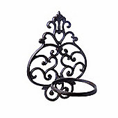 Fleur-de-Lys Cast Iron Single Wall Planter for the Garden