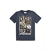 Star Wars Personalised Retro Characters Men's t-shirt Blue - Blue