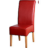 Home Essence G10 Dining Chair in Rustic Red (Set of 2)