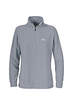 Trespass Ladies Louviers Fleece Zip Top - Grey