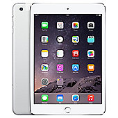Apple iPad mini 3, 64GB, WiFi & 4G LTE (Cellular) - Silver