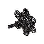 Linea Black Flower Napkin Ring Set Of 4