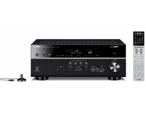 YAMAHA RXV673 NETWORKED 3D READY HOME CINEMA RECEIVER WITH APPLE AIRPLAY (BLACK)