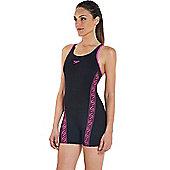 Speedo Ladies Monogram Endurance+ Legsuit - Black