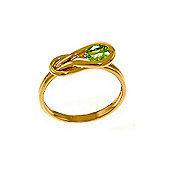 QP Jewellers 0.65ct Peridot San Francisco Ring in 14K Rose Gold