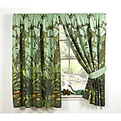 Jurassic Jungle Lined Curtains 66 inch x 72 inch (168cm x 183cm)