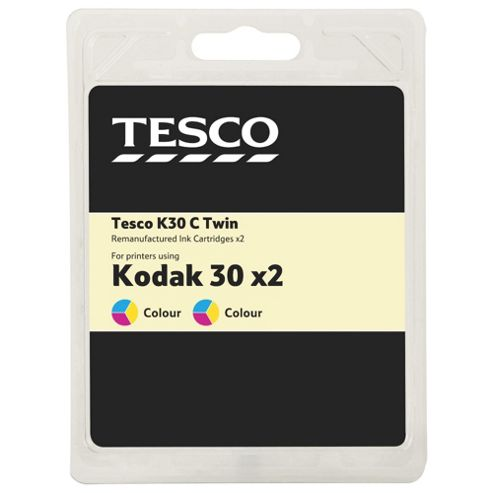 Tesco (Kodak 30) 2 pack printer ink cartridge - Colour