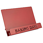 Baking Days Metal Cookbook Stand, Red