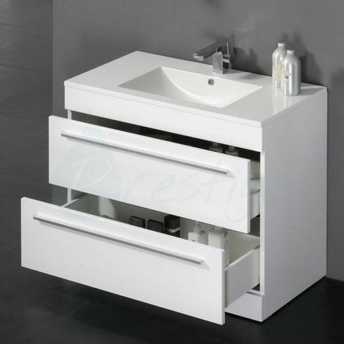 Buy prestige paris floor mounted vanity unit built in for Bathroom cabinets 800mm high
